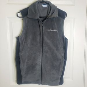 Columbia fleece two tone grey vest small